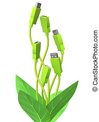 Green technology - Conceptual image - green technology. 3d...
