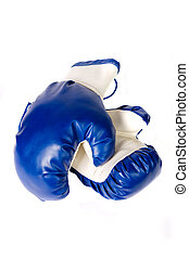 Isolated pair of boxing gloves
