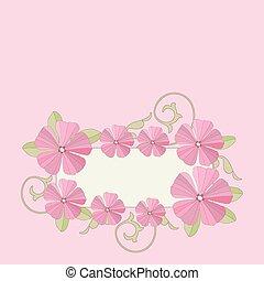 Garden flowers frame.