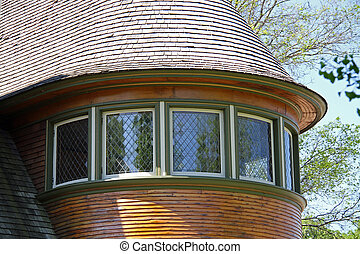 Beautiful windows on this Frank Lloyd Wright designed home