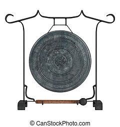 Gong isolated on white background