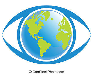 World eye view. - World eye view concept.