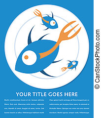 Stylized fork tailed fish design. - Stylized fork tailed...