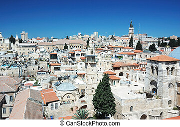 Old Jerusalem view from the Lutheran Redeemer\'s church