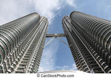 The Petronas Towers at Kuala Lumpur