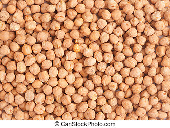 Chickpea background - Bunch of chickpeas forming a...
