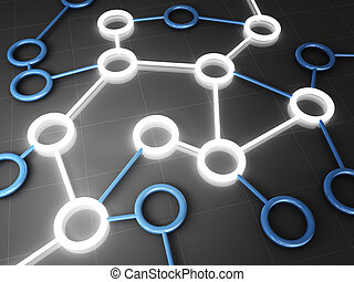 connection web - fine 3d image of connection business