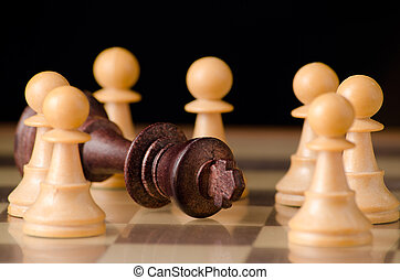 End of tyranny with chess pieces - The fall of a tyranny...