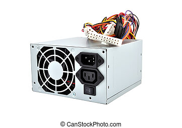 Computer Power Supply on a white background
