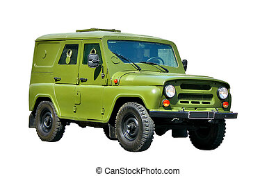 Army armoured vehicle - Green army armoured vehicle isolated...