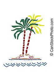 Palm tree - Colourful Palm tree