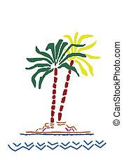 Palm tree  - Colourful Palm tree