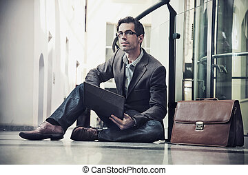 Young businessman resting