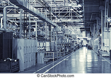 industrial background - toned shot of industrial background