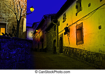 Midnight - Typical Medieval Spanish City at Midnight
