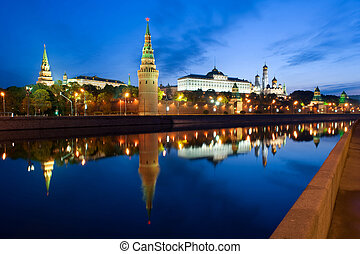 The Moscow Kremlin in the morning