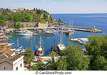 Turkey. Antalya town.Harbor - Turkey. Antalya town....
