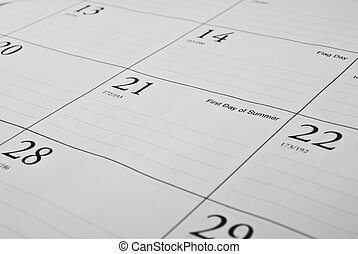 Desktop Calendar - This is a photo of a desktop calendar It...