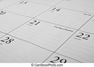 Desktop Calendar - This is a photo of a desktop calendar. It...