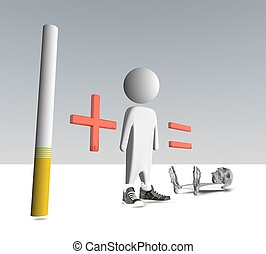 alcohol and cigarettes - three-dimensional people, a...