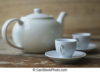 Afternoon tea party for two - Traditional teapot and two...