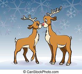 smooching deers