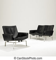 isolated iconic modern design  seating on white background