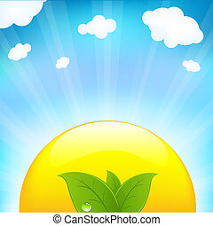 Sun With Beams And Sprout