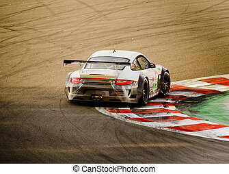 Racing Car - A car on the track in Francorchamps 1000km Spa,...