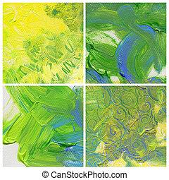pintura, abstratos, fundos, acrílico