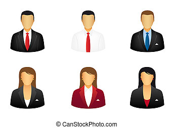 Business people icons - Set of business people icons