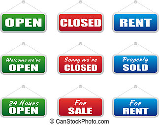 Collection of signboards - Collection of shopping signboards...