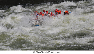 Whitewater B - Rafting in white water
