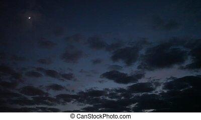 moon on the night the dark sky