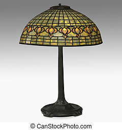 tiffany lamp isolated on white