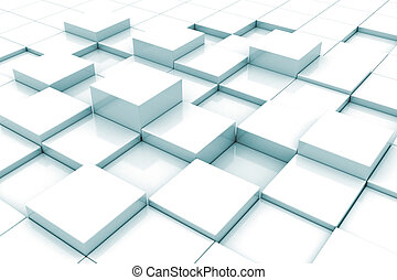 Background of 3d blocks  - Abstract 3d cubes background