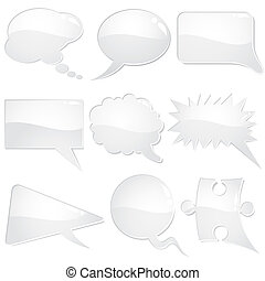 Speech Bubbles - Set of speech and thought bubbles, element...