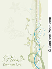 Spring background - Decorative spring background with...