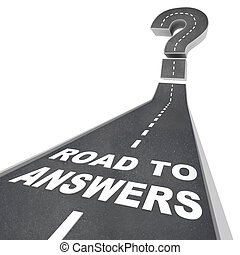 Road to Answers - Words on Street - The words Road to...