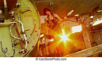 Solar guitarist