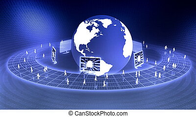 Worldwide Virtual Business - the concept of virtual internet...