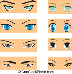 Manga eyes - Set of different styles of manga eyes