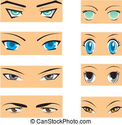 Manga, yeux