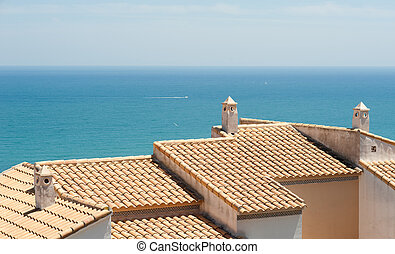 Mediterranean architecture - Tiled roofs with a spectacular...