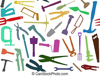 Seamless Tools - Seamless background of colourful tools