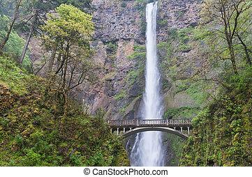 Multnomah Falls - Bridge across Multnomah Falls, near...