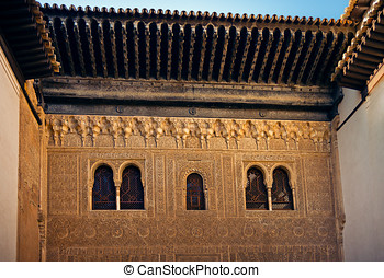 Ancient windows of Comares Palace - Alhambra