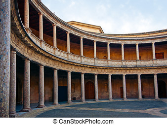 Courtyard of Palace of Charles V in Alhambra