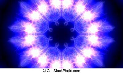 retro lotus flower pattern