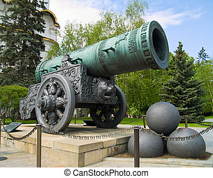 Tsar canon, largest bombard by caliber, Moscow, Russia